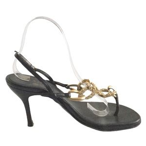 JUST IN Chanel Crystal Thong Heels Authenticated
